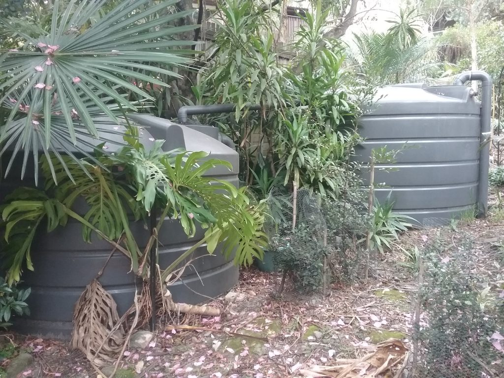 Sydney Edible Garden Trail - water tanks
