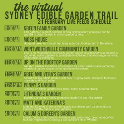 Sydney Edible Garden Trail - virtual day 1 schedule